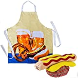 Hot Dog Costume - Chefs Apron and Hat - Hot Dog Costume - Food Costume - Food Hats by Tigerdoe