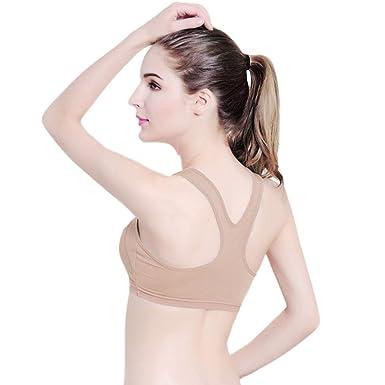 Soutien-Gorge de Sport Femme - Femmes Yoga Fitness Stretch Workout Débardeur  Seamless Racerback rembourré a9b568f55b0