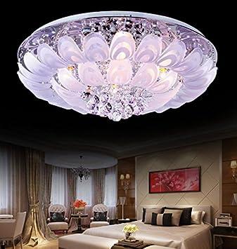 WXX Schlafzimmer minimalistische moderne Kristall-Pfau-Lampe ...