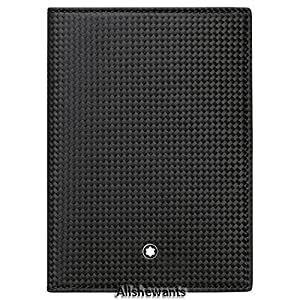 Montblanc 111142 Extreme 3CC Woven Carbon Leather Passport Holder