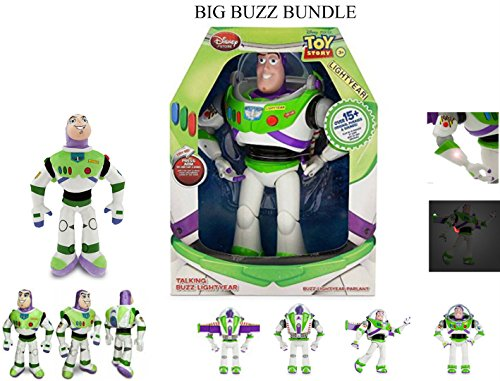 Buzz Light Year Big 2pcs Bundle Interactive 12 Inch And 10 inch buzz Toy.