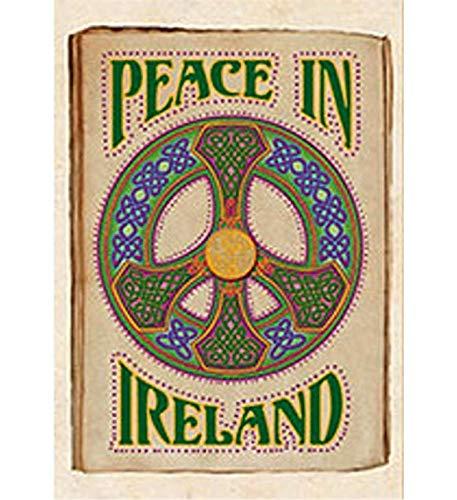 "Lovely ""Peace In Ireland"" Irish Refrigerator Magnet"