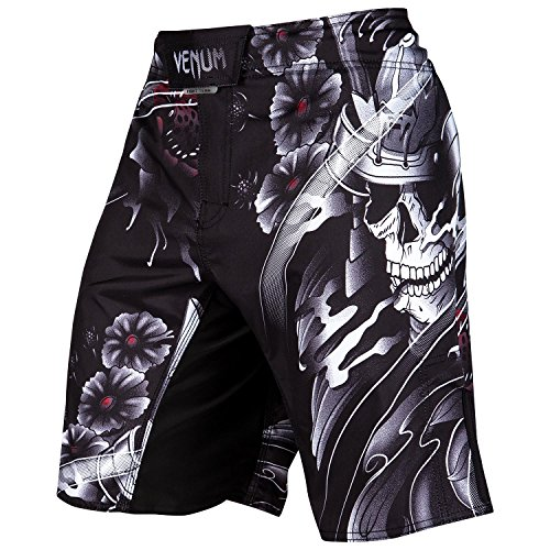 Venum Men's Samurai Skull Fight Shorts MMA Black Large by Venum