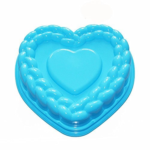 FasterS Flexible Large Heart Gelatin Cake Baking Pan Silicone Mousse Mold Party Maker