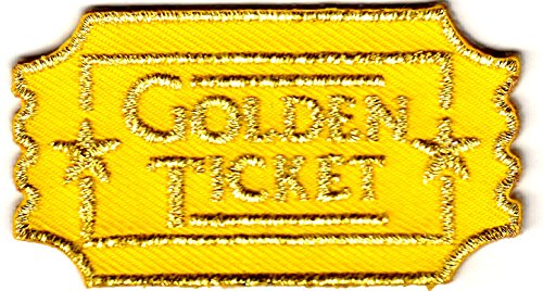 Golden Ticket  Entertainment   Movie   Show   Game   Iron On Embroidered Patch