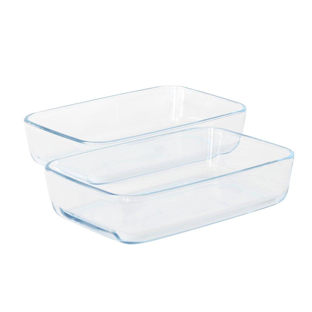 ProCook - Set de plats à four en verre Rectangulaire 2 pièces