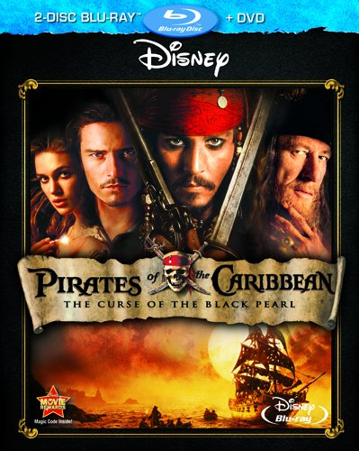 Blu-ray : Pirates of the Caribbean: The Curse of the Black Pearl (With DVD, 3 Disc)