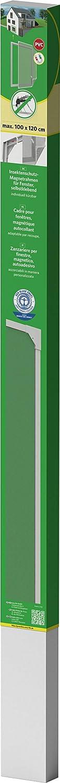 Taille:120 x 140 cm easy life Moustiquaire avec cadre magn/étique en PVC pour fen/êtres facile /à instaler sans per/çage et individuellement raccourcissable Couleur:Blanc