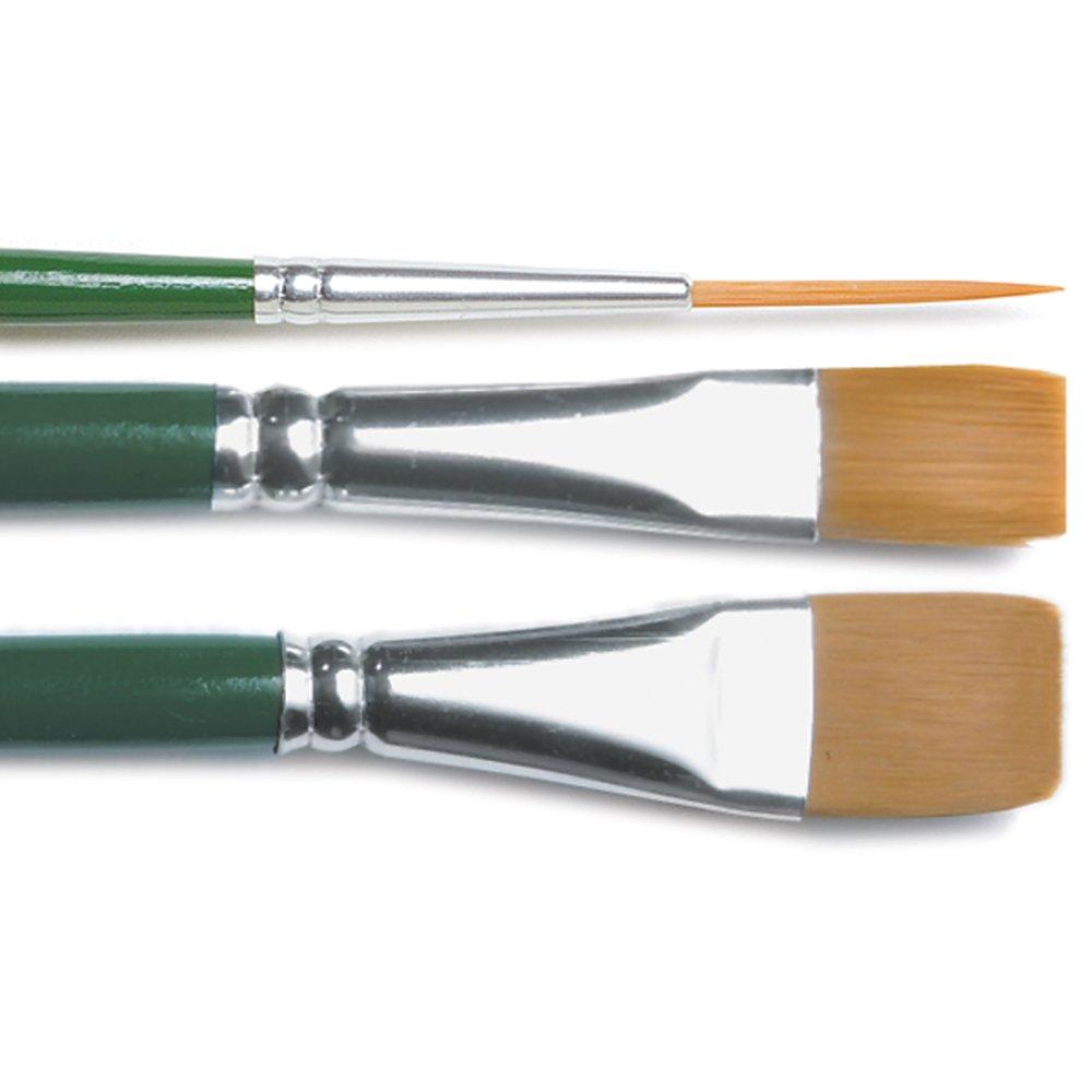 Plaid:Craft 1171 Nylon One Stroke Brush Set-3 kg
