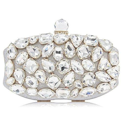 Soirée Main Mariage Soirée Color À de La De Gold Diamants discothèques Mariage Pochette De Lady À Silver De Sac pour Main Robe Luxe tZqdwxRnH