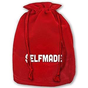 SELF MADE Red Velvet Drawstring Christmas Decoration Large Santa Claus Gift Stocking Presents Bag Sack For Christmas Wedding Gifts
