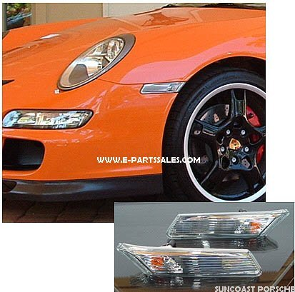 Porsche Carrera 997 Clear Side Marker Light Set