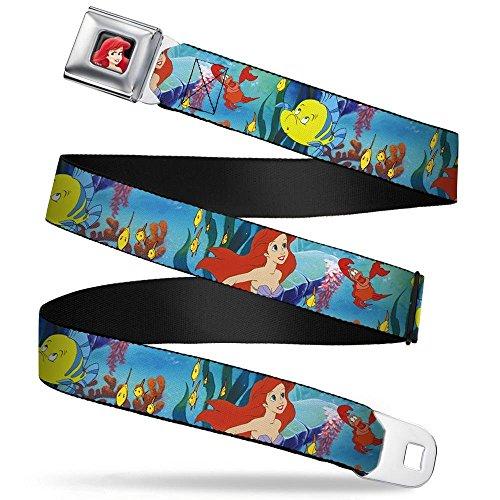 Buckle-Down Seatbelt Belt - Ariel, Sebastian & Flounder Scene - 1.5