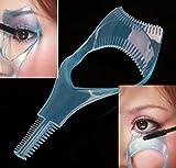 Deserve to Buy Eyelash Comb,Mascara Applicator Tool-Arc Designed 3 in 1 Mascara Comb for Upper Lower Eyelashes Eyelash Cosmetic Tool,Random Color (Color : As Shown)