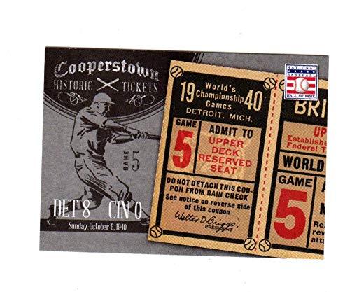 - Baseball MLB 2013 Panini Cooperstown Historic Tickets #13 1940 World Series #13 NM+