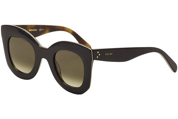 325c7789b641 Celine 41093 S 273Z3 Blue Tortoise 41093S Square Sunglasses Lens Category 3  S  Amazon.co.uk  Clothing