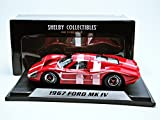 Shelby Collect Ford GT MK IV Hard Top (1967, (1:18) Scale diecast Model car, Red/w White