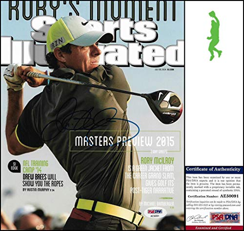 Rory McIlroy Autographed Photo - 8x10 Si Tour Coa - PSA/DNA Certified - Autographed Golf Photos (Certified Autograph Photo 8x10 Golf)