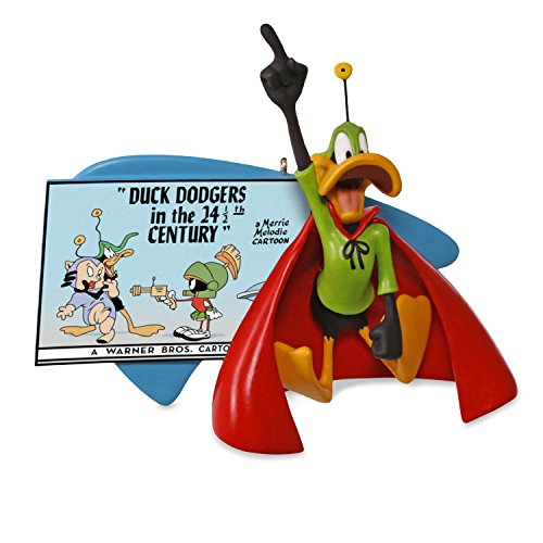 - Hallmark Keepsake 2017 LOONEY TUNES Duck Dodgers in the 24 1/2th Century DAFFY DUCK Christmas Ornament