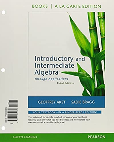 Introductory algebra through applications 3rd edition array introductory and intermediate algebra through applications a la rh amazon com fandeluxe Choice Image