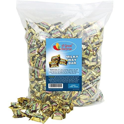 Milky Way Candy Bars - Milkyway Chocolate Candy Bar Mini, 2 LB Bulk -