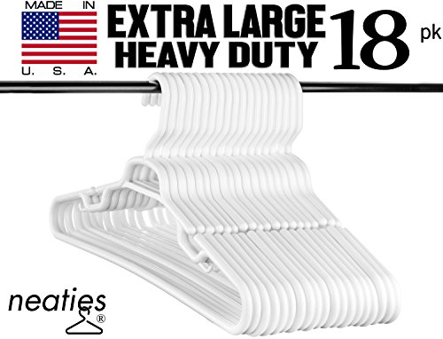 Extra Large White Super Duty Hangers, USA Made and Long Last