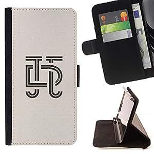 Momo Phone Case / Flip Funda de Cuero Case Cover - Lettres Calligraphie Conception Insignia - Samsung Galaxy Note 3 III