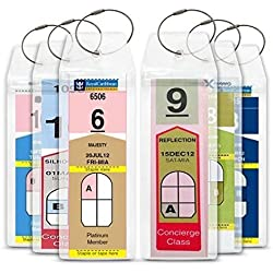 Cruise Tag Caddy 8 Pc Slim Zip Top Luggage Tag Holders for Royal Caribbean & Celebrity Cruise Ships