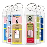 Cruise Tag Caddy 8 Pc Slim Zip Top Luggage Tag Holders for Royal Caribbean & Celebrity Cruise Ships offers