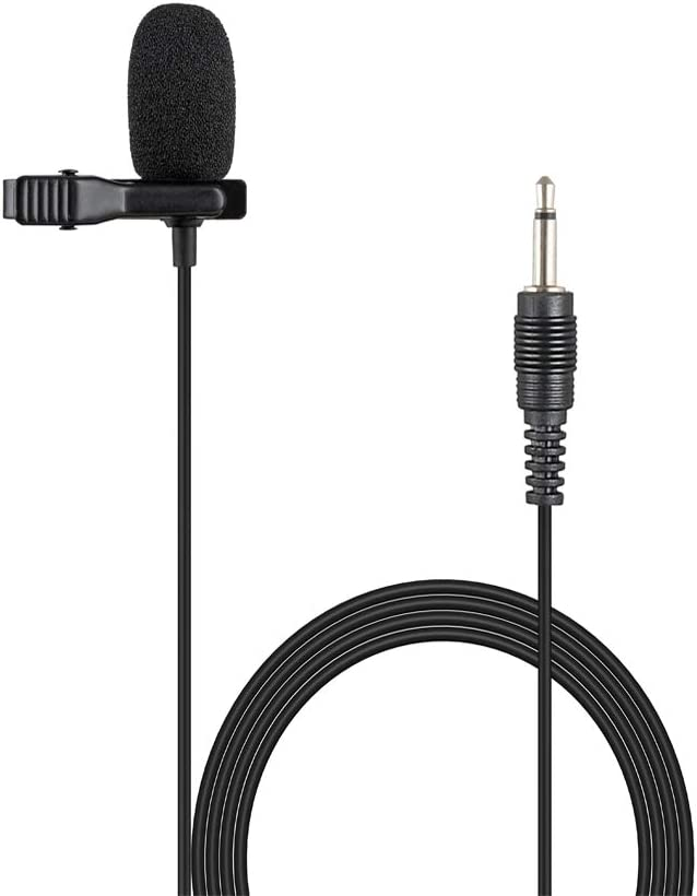 Sujeetec Lavalier Lapel Microphone 3.5mm Mono TS Plug Cardioid Miniature Clip on Mic for Wireless & Desktop Computer Portable Voice Amplifier Speaker - Mono 1/8'' TS Plug