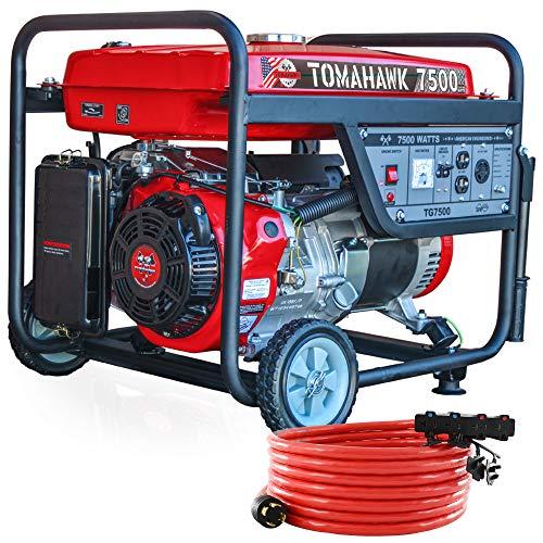 Tomahawk Power 7500 Starting Watts, Gas Powered Portable Generator EPA Compliant