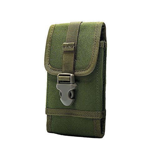 "OneTigris MOLLE Phone Pouch for 4.7"" 5.5"" Phone with Slim Case (Green - 1000D Nylon)"