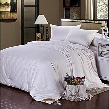 Soft Silker Silk Comforter 100% All Natural National Standard Long Mulberry Silk Duvet All Season Queen