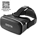 """DESTEK V2 Virtual Reality VR Headset for 3D Movies/360°Videos/VR Games in 4-5.7"""" iPhone5 6s Plus, Samsung S5 S6 Edge, Note 4/5, LG G3 G4 Nexus 5"""