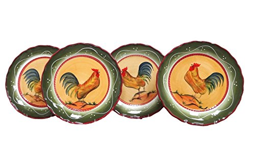 ACK Tuscany Province Sunshine Rooster Hand Painted Ceramic 10