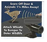 Trenton Gifts Automotive Car Safety Self Adhesive Deer & Wildlife Warning Whistle - Set of 6