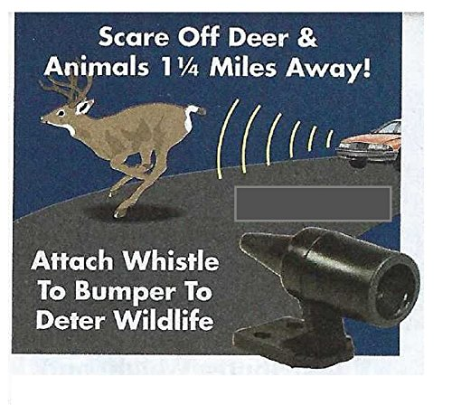 Rig Vehicle - Trenton Gifts Automotive Car Safety Self Adhesive Deer & Wildlife Warning Whistle - Set of 6