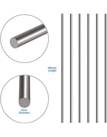 5Pcs RC Airplane Hardware Tool Stainless Steel Round Rod 400mm x 3mm