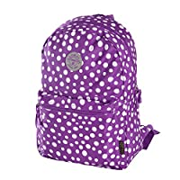 Olympia Cornell 18 Inch Backpack, Purple Dot, One Size