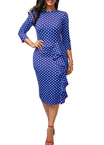 3/4 sleeve club dresses - 7
