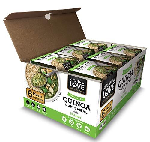 Kitchen & Love Basil Pesto Quinoa Quick Meal 6 Pack
