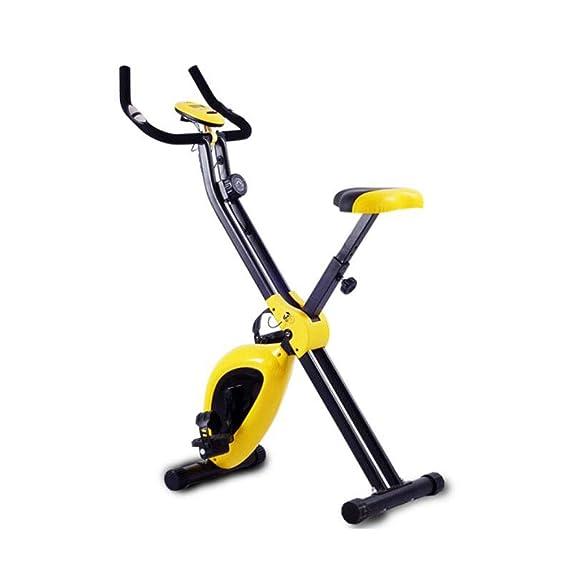 Kaiyitong Bicicleta estática, Bicicleta estática Plegable, Mini ...