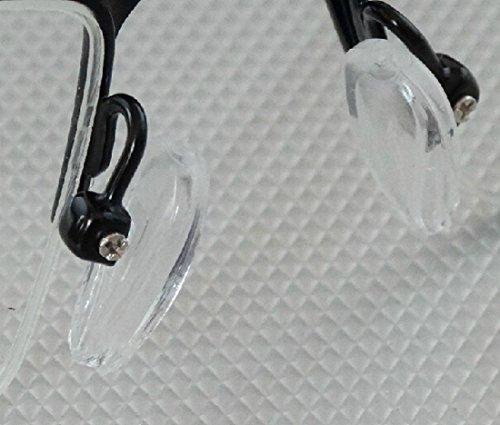CHENGYIDA 500個入り (250ペア) 鼻あて シリコン鼻パッド メガネずり落ち防止 鼻パット クッションパット シリコン鼻パッド ねじ式交換用 柔らかいシリコン素材 メガネが滑らない・ずれ落ちしにくい形の鼻あて 痛いパッド跡の軽減に最適 + 1フリープラスチックケース