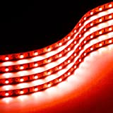 red automotive led light strips - Zone Tech 30cm Flexible Waterproof Red Light Strips  4-Pack LED Car Flexible Waterproof Red Light Strips