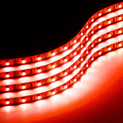 Voltage High Tech Track Fixture (Zone Tech 30cm Flexible Waterproof Red Light Strips  4-Pack LED Car Flexible Waterproof Red Light Strips)