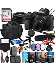Nikon Z50 Mirrorless Digital Camera with 16-50mm Lens MFR #1633 Video Makers Bundle - Rode Video Mic Go + 64GB Memory + Flash, Bag, Tripod, HD Filters, Video/Photo Editing Software Package & More