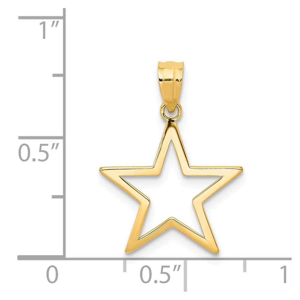 Diamond2deal 14/K Or Jaune Pendentif /Étoile