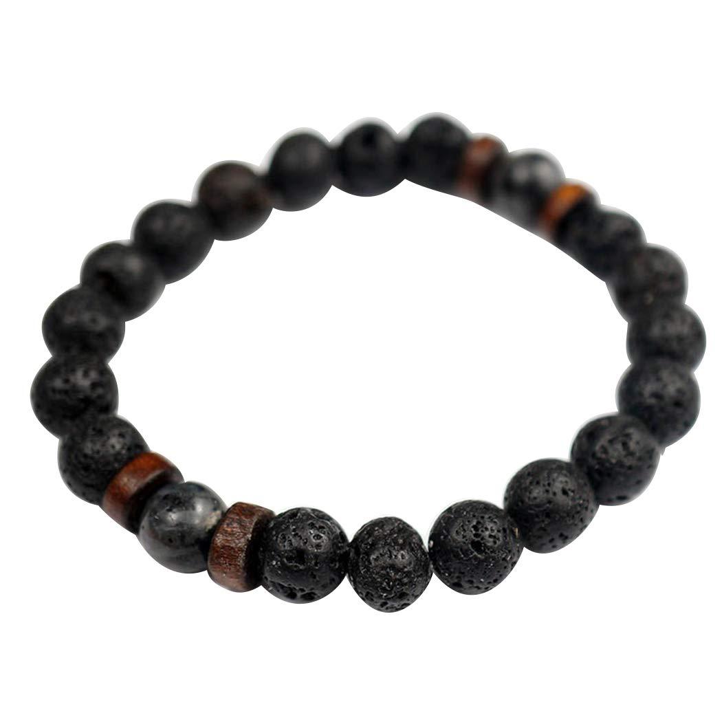 33c8d2ec00a64 Amazon.com: Fanala Natural Lava Rock Beads Stone Bracelet,Yoga ...
