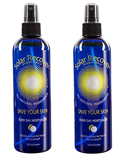 - Solar Recover - After Sun Moisturizing Spray 2 Pack - (24 Ounces) - Hydrating Facial and Body Mist - 4920 Sprays of Sunburn Relief With Vitamin E and Calendula
