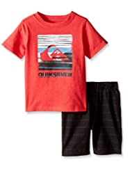 Quiksilver Little Boys' 2 Piece Graphic Tee with Short Set